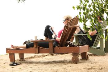 Relaxing at Fern Resort.