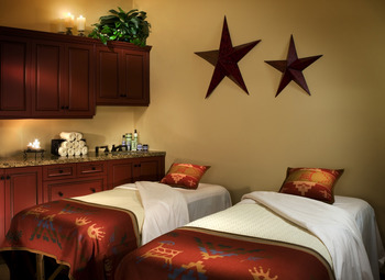 Spa beds at Alisal Guest Ranch and Resort.
