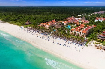 The beach at Sandos Playacar Riviera Hotel and Spa.