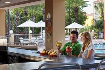 Dining by the pool at Westgate Vacation.