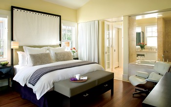 Guest room at The Carneros Inn.