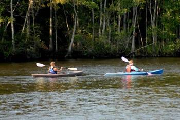 Kayaking near Bay View Resort.