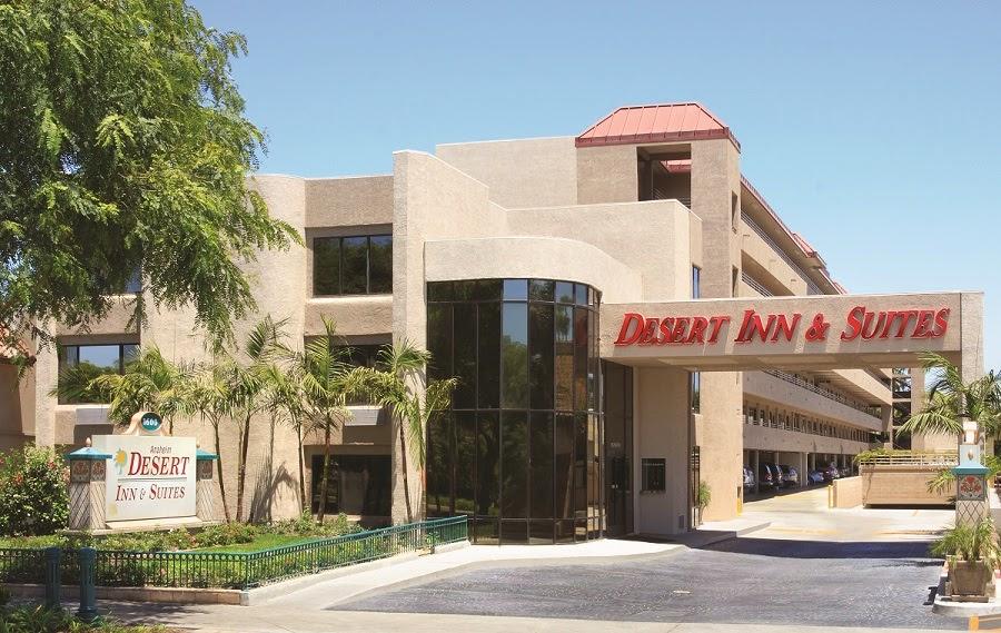 Exterior view of The Anaheim Desert Inn & Suites.