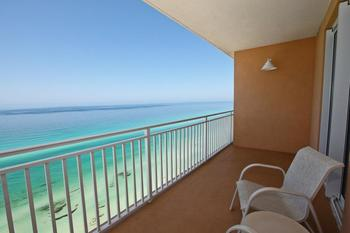 Guest balcony view at Splash Resort.