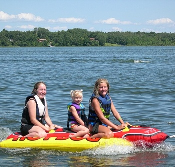 Kids On Lake at  Finn'n Feather Resort