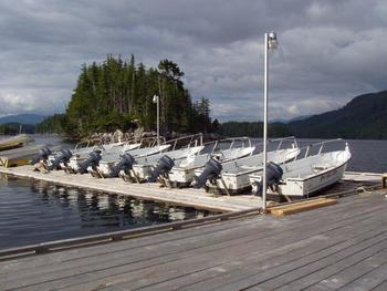 Boats at Black Gold Lodge