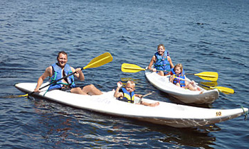 Kayaking at River Point Resort & Outfitting Co.