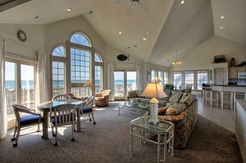 Spacious Living Room at Hatteras Realty