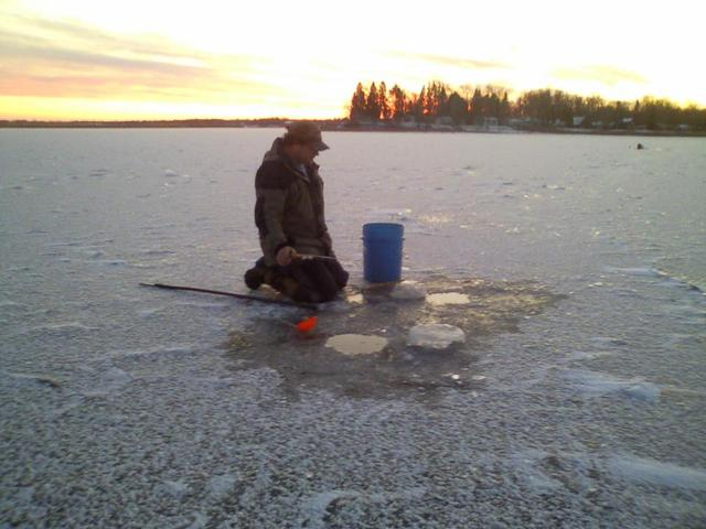 Ice Fishing at Adrian's Resort