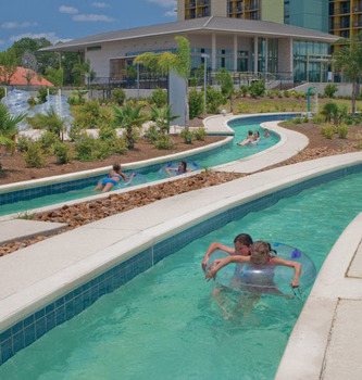 Lazy River at La Torretta Lake Resort