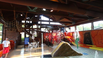 Indoor water park at Rocking Horse Ranch Resort.