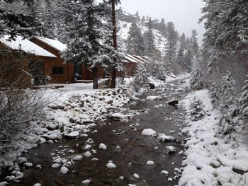 Winter time at River Stone Resort Properties.