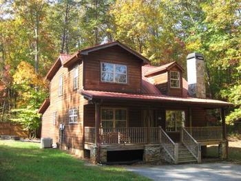 Cabin exterior at Blue Ridge Cabin Rentals.