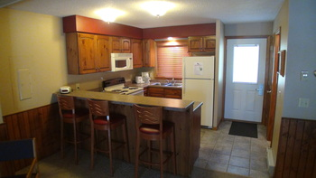 Guest kitchen at Kavanaugh's Sylvan Lake Resort.