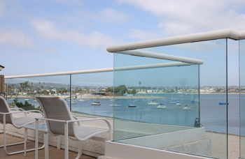Rental balcony at Beach and Bayside Vacations.