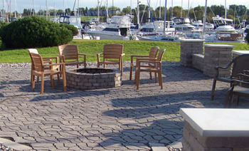 Fire Pit at Barker's Island Inn Resort