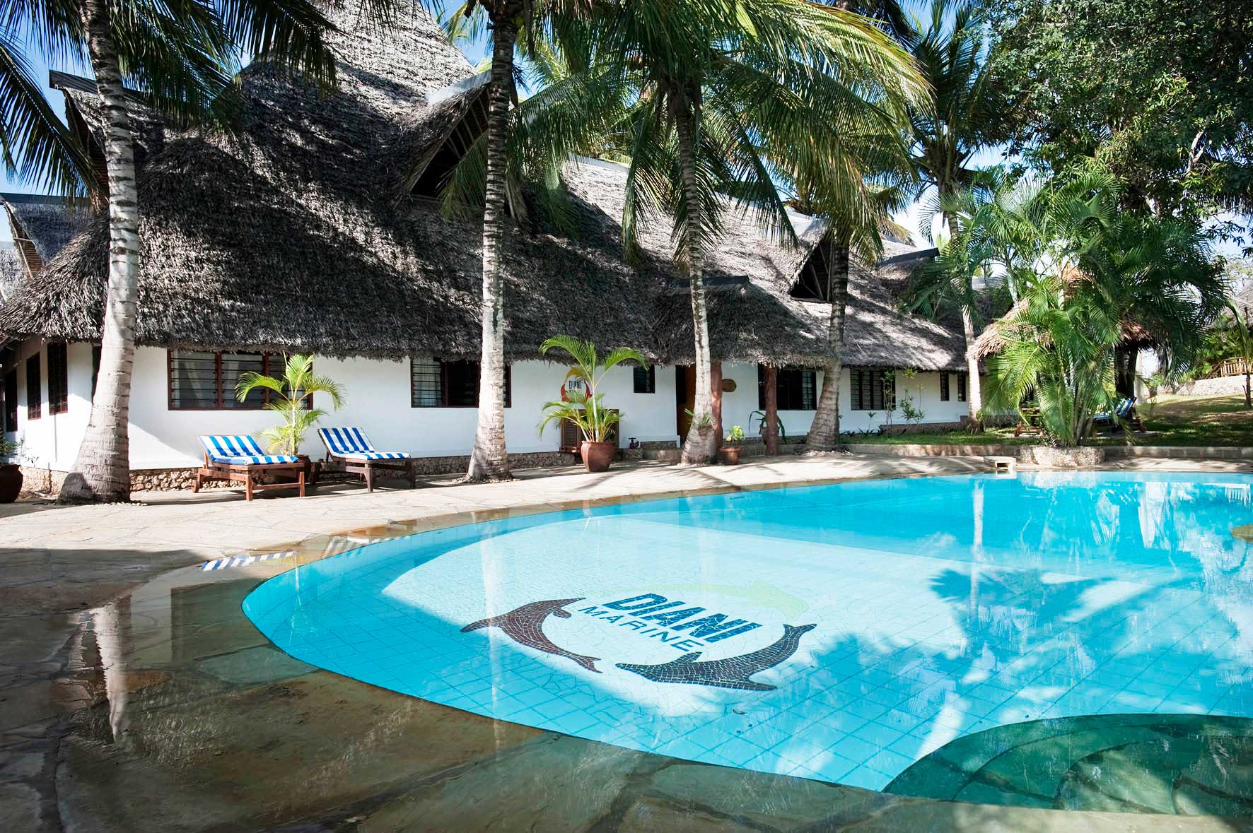 Exterior view of Diani Marine Divers Village.