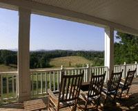 Porch view at Dahlonega Spa Resort.