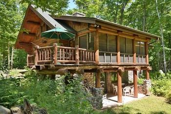 Cabin exterior at North Country Vacation Rentals.