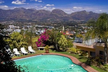 Outdoor pool at Berghof-Paarl Wine and Guest Resort.