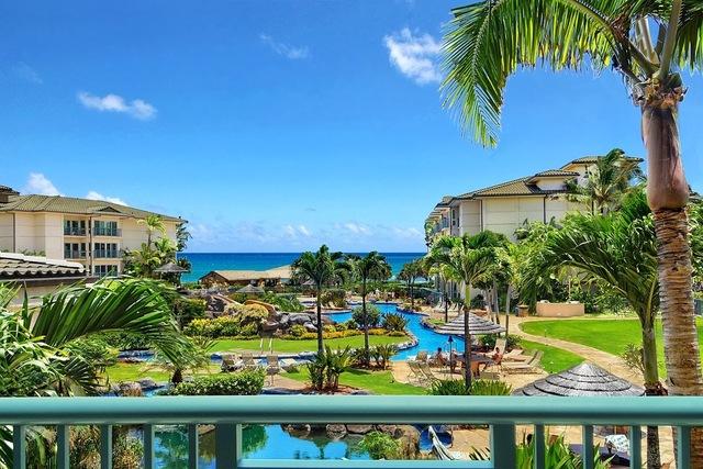 Balcony view at Kauai Calls!