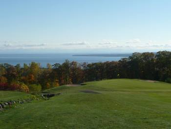 Golf course near Woodside Cottages of Bayfield.