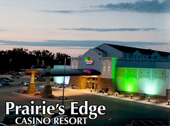 Exterior view of Prairie's Edge Casino Resort.