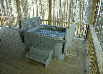 Relax in your outdoor hot tub!