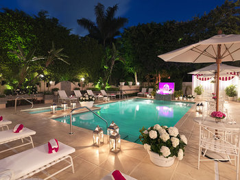 Outdoor pool at The Chesterfield Palm Beach.