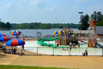 Waterpark at Yogi on the Lake.