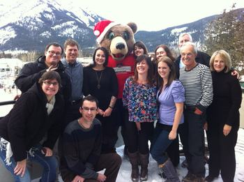 Holiday celebration at Banff Ptarmigan Inn.