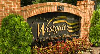 Entrance at Westgate Williamsburg.