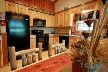 Kitchen at Lake Forest Cabins.
