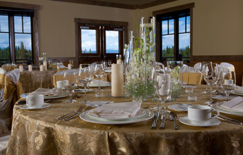Wedding reception at One Ski Hill Place.