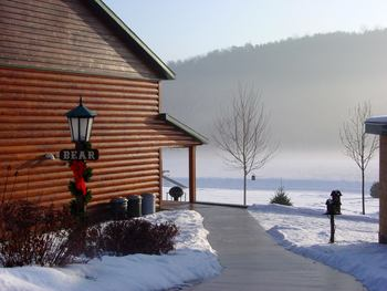 Winter time at Cedar Valley Resort.