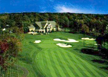 Aerial Golf View at Woodloch Resort