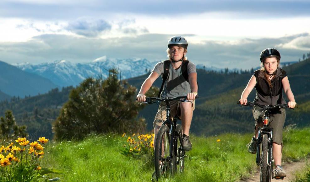 Biking at Campbell's Resort on Lake Chelan.
