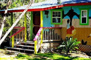 Mango Moon Bungalow at Lost Parrot Cabins.