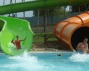 Water slide at the water park at Mark Twain Landing.