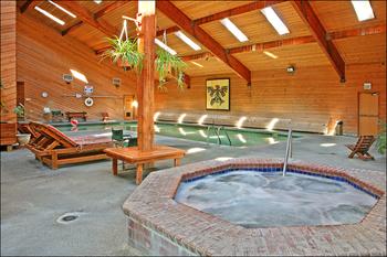 Indoor pool at Ocean Crest Resort.