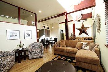 The lounge at Greenhorn Creek Resort.
