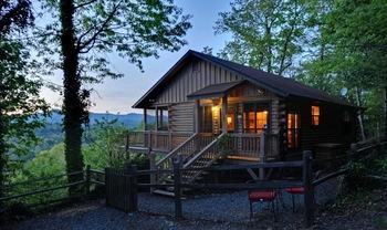 Cabin exterior at Sliding Rock Cabins.