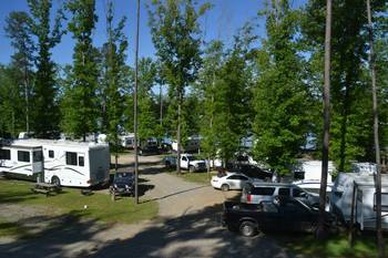RV campground at Yogi on the Lake.