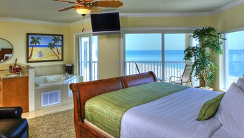 Three Bedroom Penthouse Master Bedroom at Sunset Vistas.
