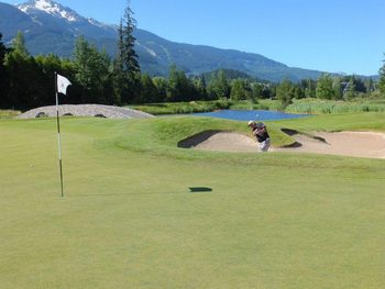 Golf course at Crystal Lodge.