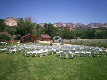 Wedding at Arrowhead Bed & Breakfast.