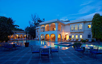 Outdoor pool at Samode Haveli.