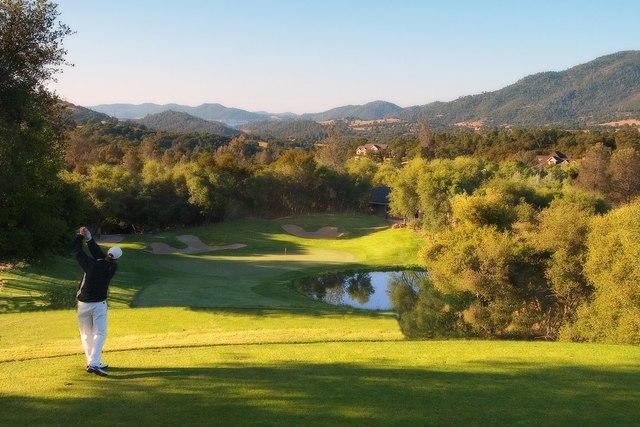 Golf course at Greenhorn Creek Resort.