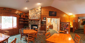 Cabin interior at Lost Lake Lodge.