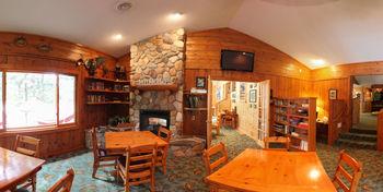 Cabin interior at Lost Lake Lodge.